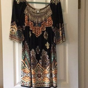 Black/multi color dress